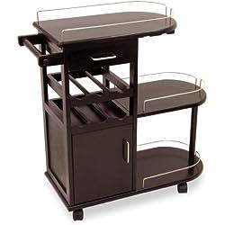 Winsome Wood Entertainment Cart, Espresso