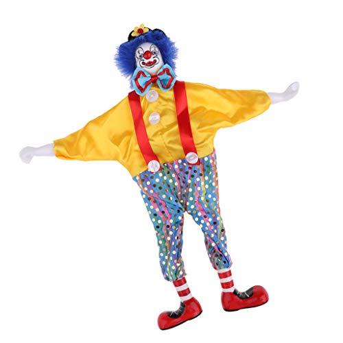 Baoblaze 38cm Clown Man Figure Doll Halloween Decoration Ornaments Home Table Desk Top Decor
