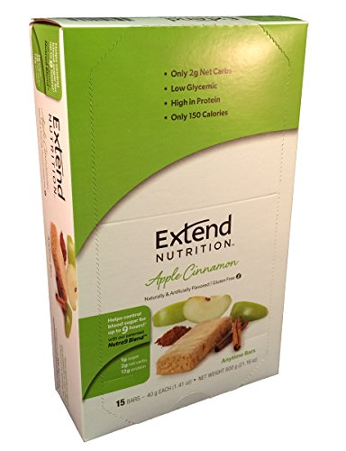 Extend Bar, Apple Cinnamon, 1.41 oz. Bars (Pack of 15) by Extend