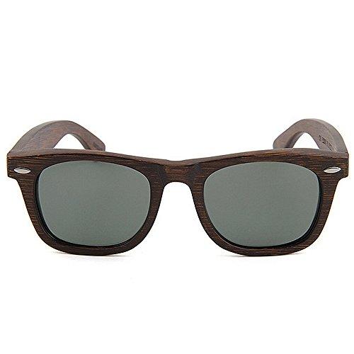 Protección Lens sol playa Retro calidad de mano pesca los hechos TAC oscura Gafas gafas sol polarizada alta la bambú de vacaciones UV vendimia a de de Marrón Gafas d de de hombres libre de al conducción aire EqRnqr1
