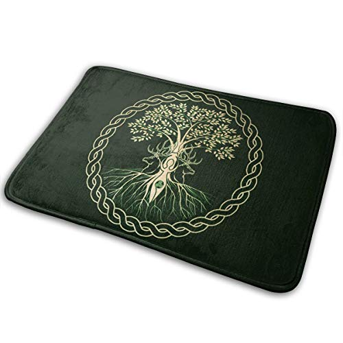 DIDIDI Christmas Yule Pagan Norse Wiccan Throw Area Ground Mat Accent Floor Carpet Outside Door Set Restroom Kitchen Bathroom Decor Welcome Entryway Rug Sign Celebrate Decorations Ornament