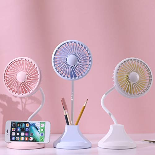 - SHANHHY Portable Fan USB Mini Electric Fan Night Light Table Fan 2-Speed   Wind Adjustable Desk Lamp Multifunction