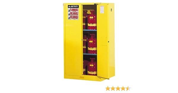 justrite 896020 sure grip ex flammable safety cabinet 2 door self rh amazon com