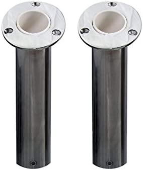 Norestar Set of 2 Flush Mounted Stainless Steel Rod Holders for Boat