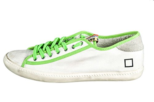 Scarpe uomo donna D.A.T.E TENDER LOW MILITARY FLUO sneakers bianche N.35 X2201