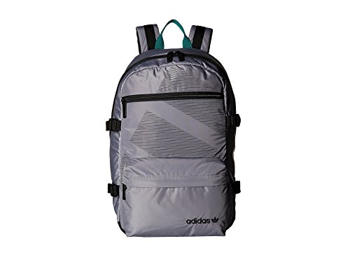 adidas Originals Unisex Originals Equipment Blocked Backpack Grey/Black/Subdued Green One Size (Adidas Compression Backpack)