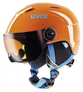 UVEX Kinder Junior Visor Skihelm, Black, 46-52 cm