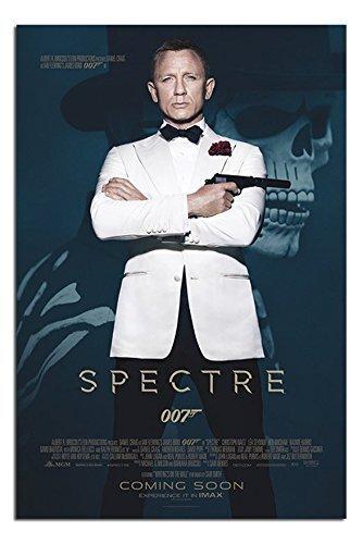 James Bond Spectre Skull And White Tuxedo 007 Poster Satin Matt Laminated - 91.5 x 61cms (36 x 24 Inches)