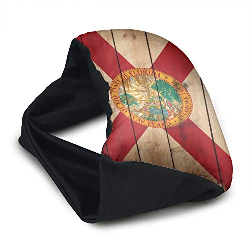 GLing-LIFE Florida State Flag Wood Texture Portable Voyage Pillow Travel Pillow and Eye Mask 2 in 1 Neck Head Support for Airplanes, Cars, Office Naps, Camping, Trains by GLing-LIFE (Image #2)