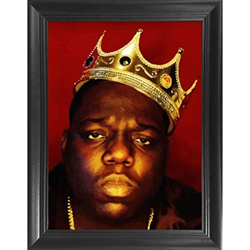 Biggie Smalls 3D Poster Wall Art Decor Framed Print | 14.5x18.5 | Lenticular Posters & Pictures | Memorabilia Gifts for Guys & Girls Bedroom | Biggy Notorious Big Greatest Hits Vinyl Album Cover Photo