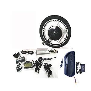"41NDAiFCFbL. SS300 16"" 18"" Casted Wheel 48V1000/36V750W/24V500W Hub Motor Ebike Kit Conversione Bici Elettrica + LCD + Tire Theebikemotor"