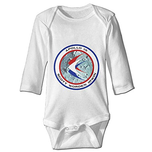 Price comparison product image Printed Apollo 15 Insignia Cute Baby Boy Girl Long Sleeves Bodysuit Jumpsuit Outfits