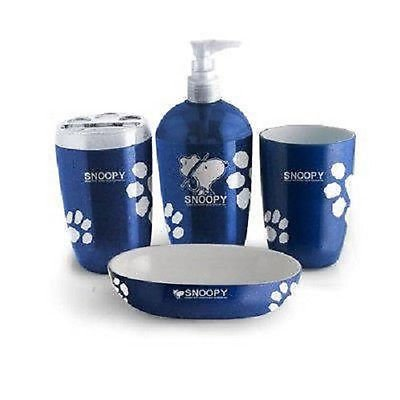 Cute Snoopy Bath Accessories Bathroom Set Collection Perfect Gift For Kid