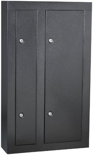 First Watch / Homak 8-Gun Double Door Security Cabinet, Black, HS30136028