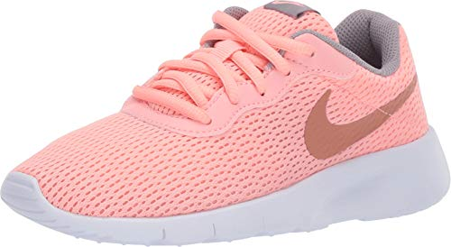 Nike Girl's Tanjun Shoe Pink Tint/Metallic Rose Gold/Atmosphere Grey Size 1 M US