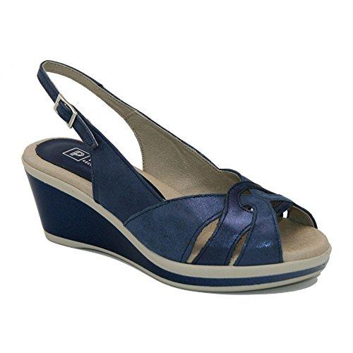 PITILLOS 5070, Damen Zehentrenner Blau Blau Blau