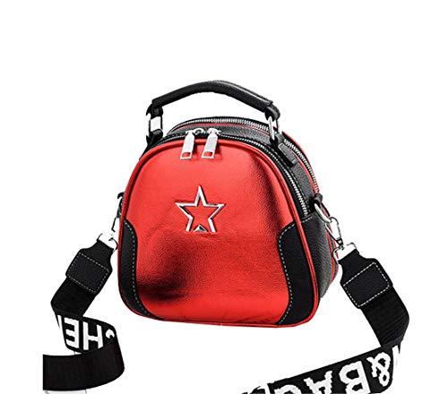 Colore Secchiello Red Tracolla Metallo Borse Mano Lavoro Donna Spalla a Fashion Classica Borse Classici Borse Cinghia Personalizzati Borse Splicing Borse Lmpermeabile Pu Da Borse Xiuy a 6PxTwx