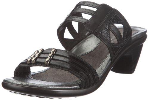Naot Women's Afrodita Dress Sandal,Jet Black Leather/Black Gloss Leather/Black Pearl Leather,42 EU/10.5-11 M US by NAOT