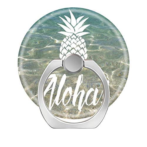 360 Degree Rotation Socket, Cell Phone Pop Grip Stand Works for All Smartphone and Tablets - Aloha Pineapple Tropical Beach