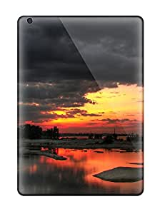 Tpu Case For Ipad Air With Black And White Sunset