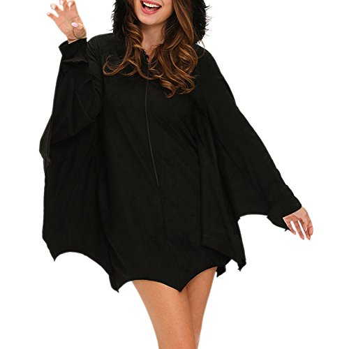 Eiffel Womens Hoodie Halloween Bat Costume Uniform