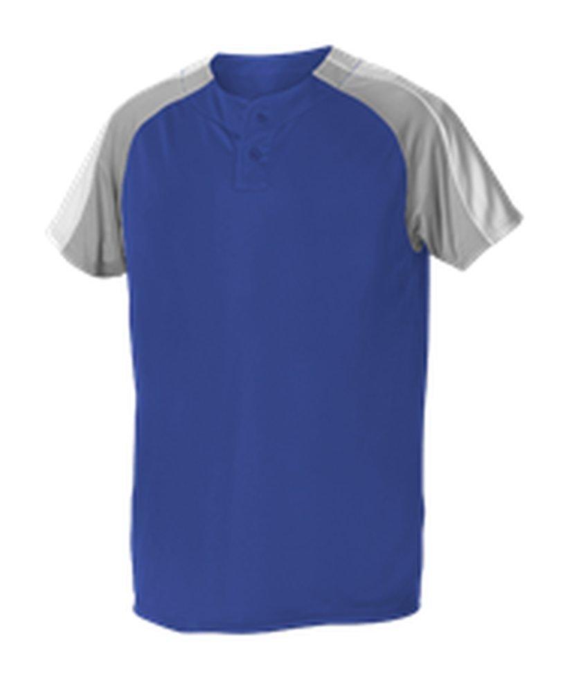 Alleson Athletic SHIRT メンズ B074N9L73P S Royal, Grey, White Royal, Grey, White S