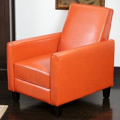 Best Davis Leather Recliner Club Chair