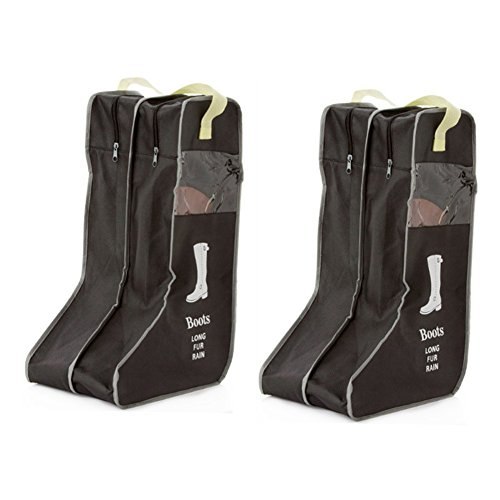 Nizzco Portable 2 Packs,Tall Boots Storage/Protector Bag,Boots Cover(Black) (Insulated Garage Cabinet)