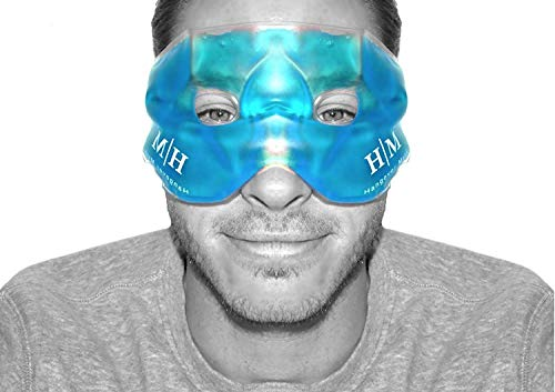 - Gel Eye Mask, Hangover Mask Hot or Cold Premium Reusable Gel Mask, Helps to Sooth Puffy Faces, Tired Eyes, Dark Circles, Headaches and Hangovers