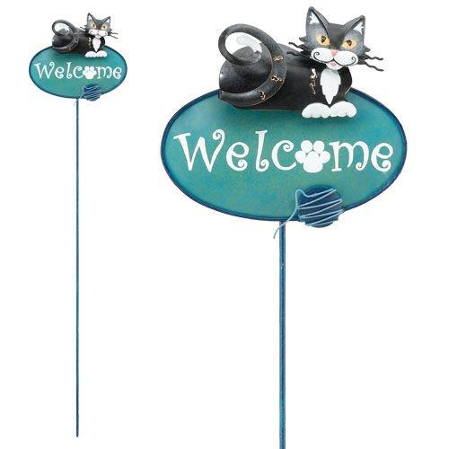(Key Keeper Handcrafted Garden Stake Decor Cat - Regal Art #5035)