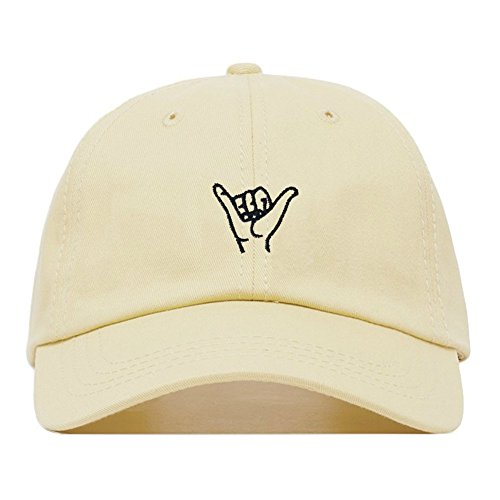 Embroidered Baseball Cap, 100% Cotton, Unstructured Low Profile, Adjustable Strap Back, 6 Panel, One Size Fits Most (Multiple Colors) (Beige) ()