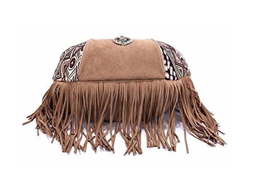 """La Loria exklusive Damen Handtasche """"Hyana"""" stylische Bohemian Shopper Tasche - Boho Style - Bohemian Style"""