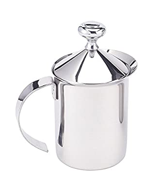 HIC Turkish Coffee Warmer and Small Butter Melting Pot, Stainless Steel