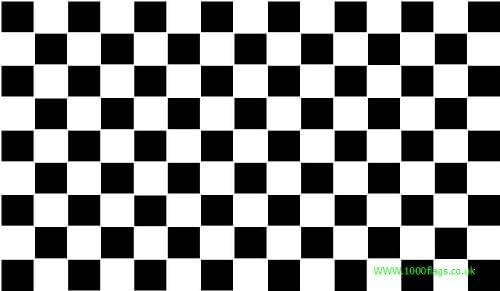 Black and White Checkered Check 3/'x2/' Flag