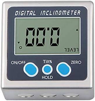 マグネットデジタルアングルロケーター、 デジタル角度ゲージ プラスチック デジタルレベルボックス分度器 データロックモード アチテクおよび木工用 (0-360°)