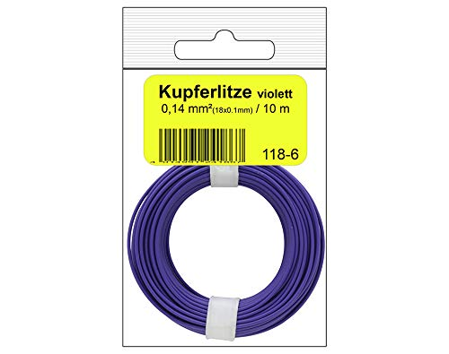 Donau Elektronik 118-6SB Single Flex Wire 10 m Purple in Bag, Multi-Colour