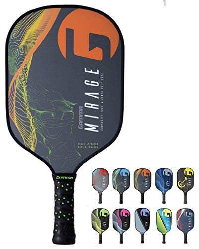 Gamma Mirage Composite Pickleball Paddle: Pickle Ball Paddles for Indoor & Outdoor Play - USAPA Approved Racquet for Adults & Kids - Orange/Green by Gamma (Image #10)