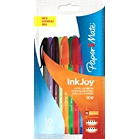 PaperMate InkJoy 100 ST Ball Pen with 1.0 mm Medium Tip - Assorted Fun Colours, Pack of 10
