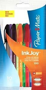 Papermate Inkjoy 100 - Pack de 10 bolígrafos, multicolor