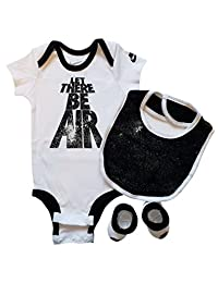 Nike 3 Piece Layette Set for Baby Boy's and Girl's, Bodysuit/Booties/Bib