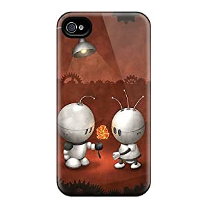 Qhr5475CfLi Case Cover, Fashionable Iphone 4/4s Case - Space Alien Love
