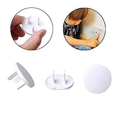 Pengxiaomei 20 Pack Socket Covers Socket Protectors, Plug Socket Cover Baby Proofing Child's Home Safety Socket Guards Safety Outlet Caps for Home and School(10 pcs Three-Hole and 10 pcs Two-Hole)