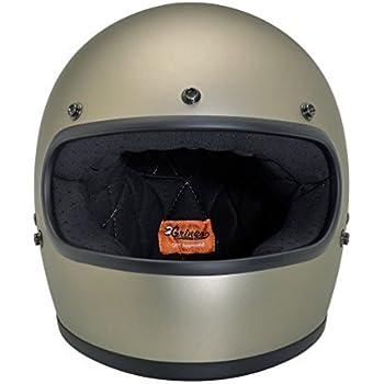Biltwell Gringo Flat Helmet - Medium/Titanium