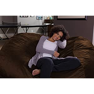 Sofa Sack - Bean Bags 6-Feet Bean Bag Lounger, Large, Chocolate