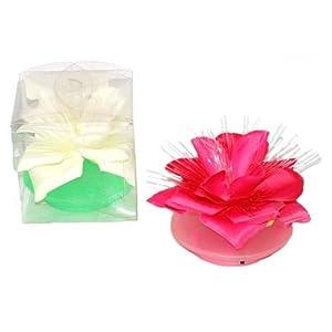 Fiber Optic Flower With Light Asst Color, Case of 24 3