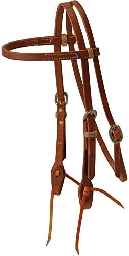 NRS Day Worker Series Double Buckle 5//8in Browband Headstall