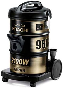 هيتاشي CV960Y-SS220 مكنسة كهربائية بحاوية، 21 لتر - اسود