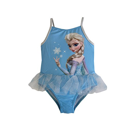 Disney Little Toddler Girls Frozen Elsa Tutu One Piece Blue (3t)
