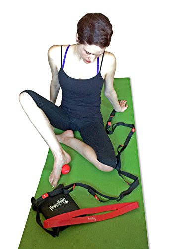 Yoga Workout Kit (includes yoga strap, firm massage ball and thick loop resistance band)
