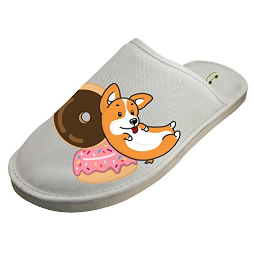 Winter Cotton Corgi And Donut Antiskid House Slippers Baboosh Indoor Slippers by 4B854DF6B